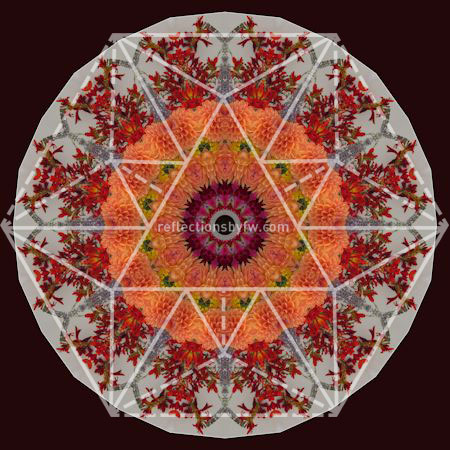 Red & Orange Mantel Bouquet Mandala